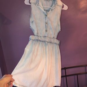 Washed-out jean dress!